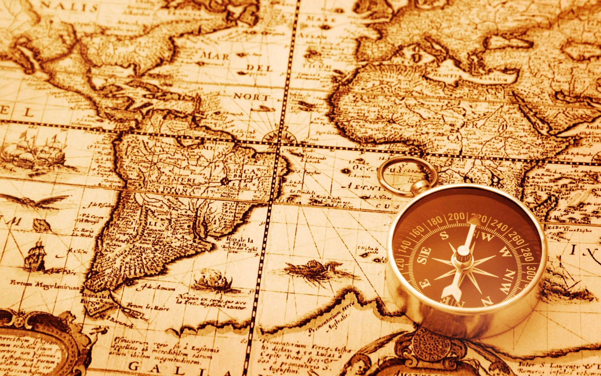 térkép iránytű Történelmi térkép
